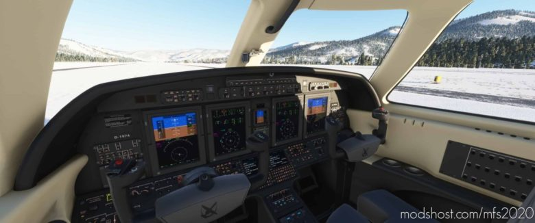 Jaydee Cockpit Cessna Citation CJ4 Black Creme for Microsoft Flight Simulator 2020