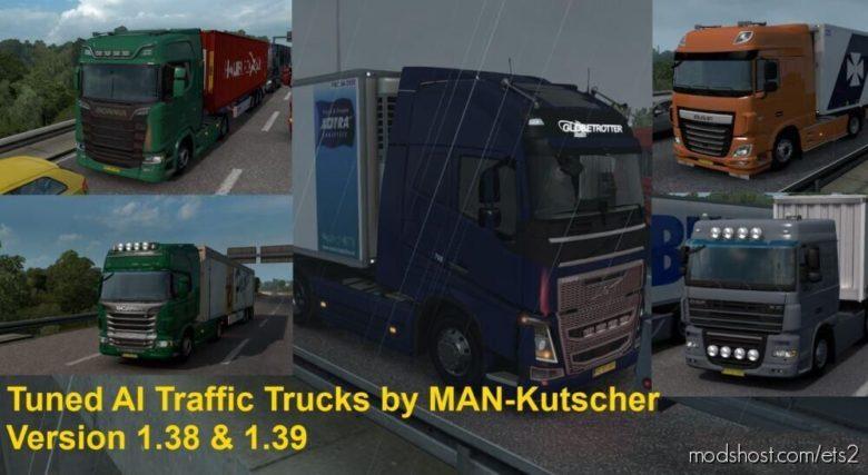 Tuned Trucks In AI Traffic [1.39.X] for Euro Truck Simulator 2