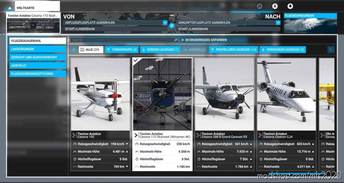 Cessna 172 Skyhawk G1000 (Wingman 4K) for Microsoft Flight Simulator 2020