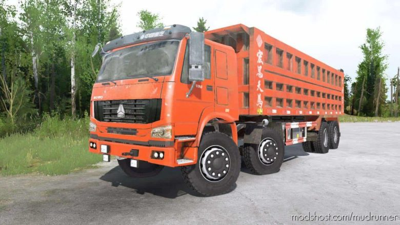 Howo 8×8 Dump Truck 2008 for MudRunner
