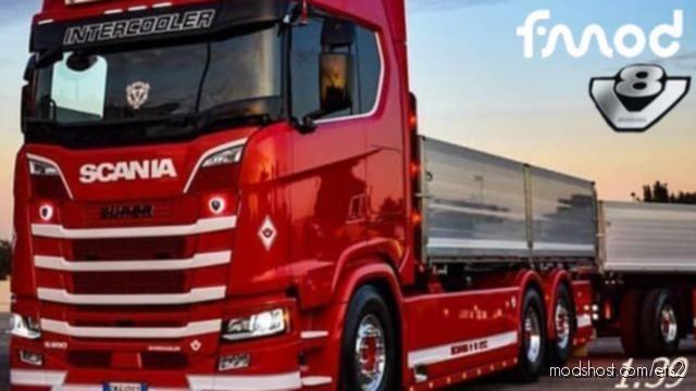 Real Sound Scania S520 V8 2020 for Euro Truck Simulator 2