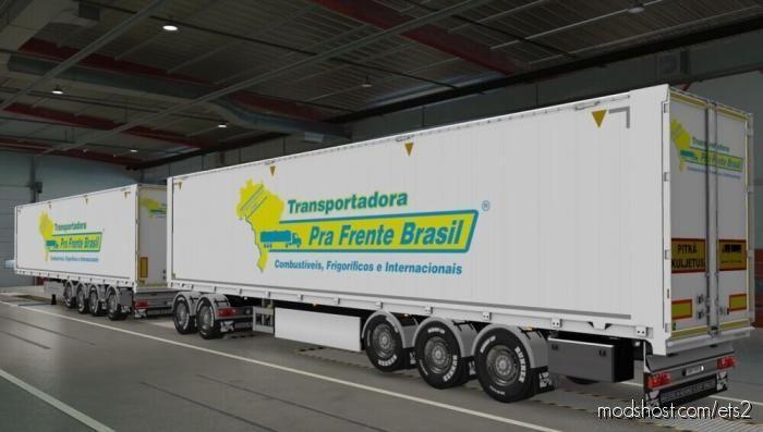 Skin Kraker Walkingfloor Transportadora PRA Frente Brasil [1.39] for Euro Truck Simulator 2