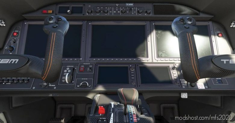 Daher TBM 930 Cockpit Livery Black Carbon for Microsoft Flight Simulator 2020