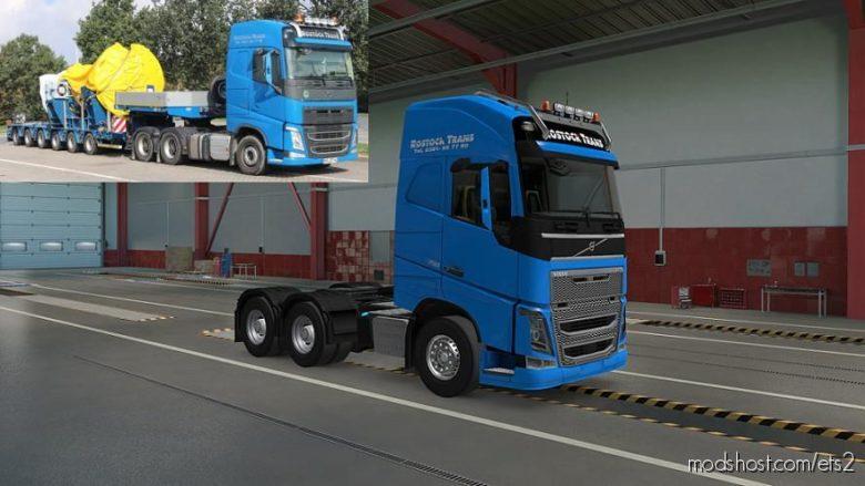 Rostock Trans Skin For Volvo FH16 2012 [1.39] for Euro Truck Simulator 2