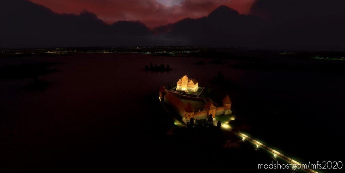 Trakai Castle, Lithuania for Microsoft Flight Simulator 2020