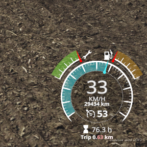 Drive Distance Display V1.9.0.4 for Farming Simulator 19