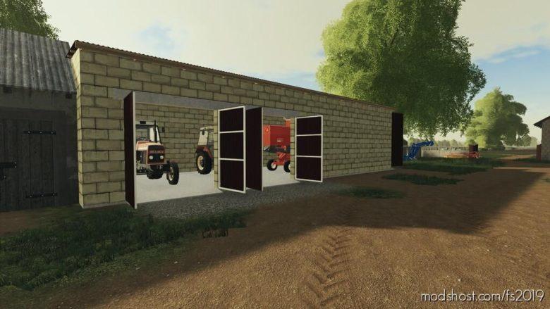 Garage For The Combine for Farming Simulator 19