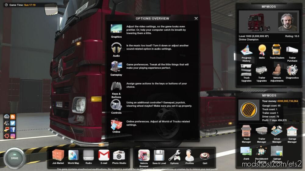 NEW Menu Icons [1.39.X] for Euro Truck Simulator 2