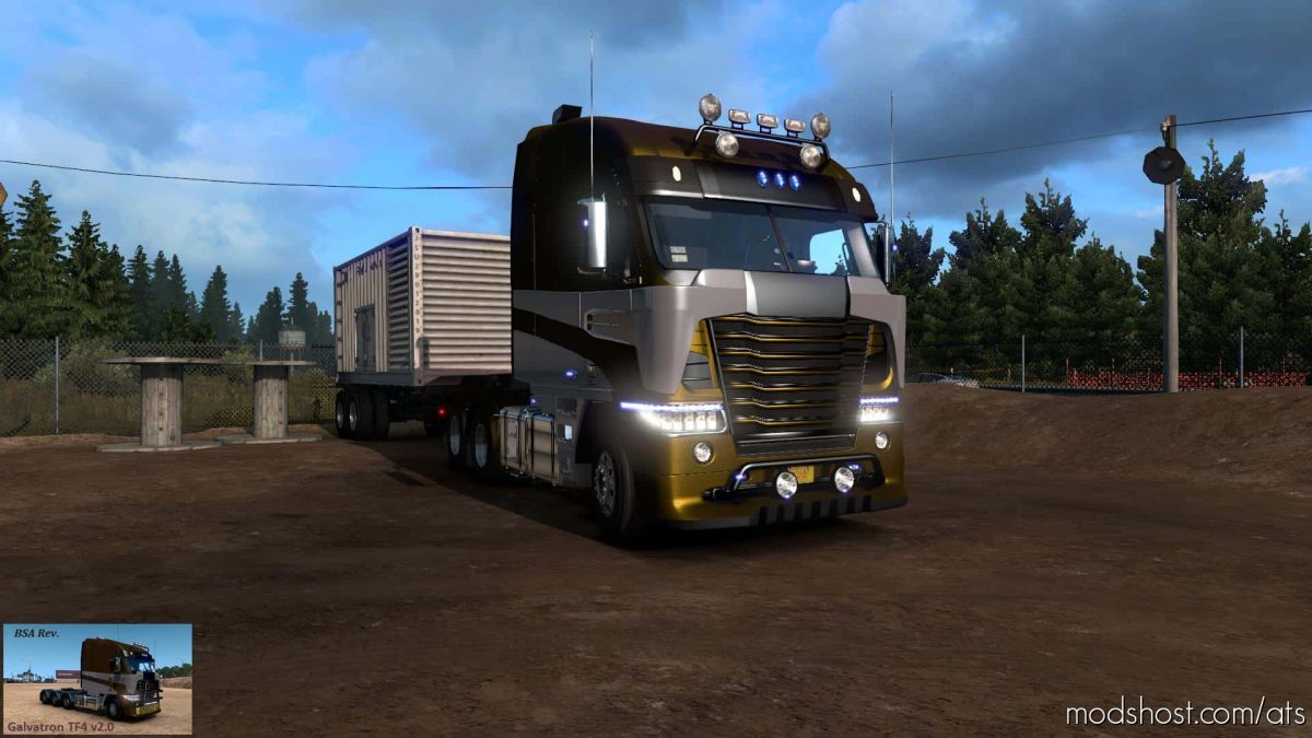 Galvatron TF4 V2.0 (BSA Revision) Truck V1.39 for American Truck Simulator