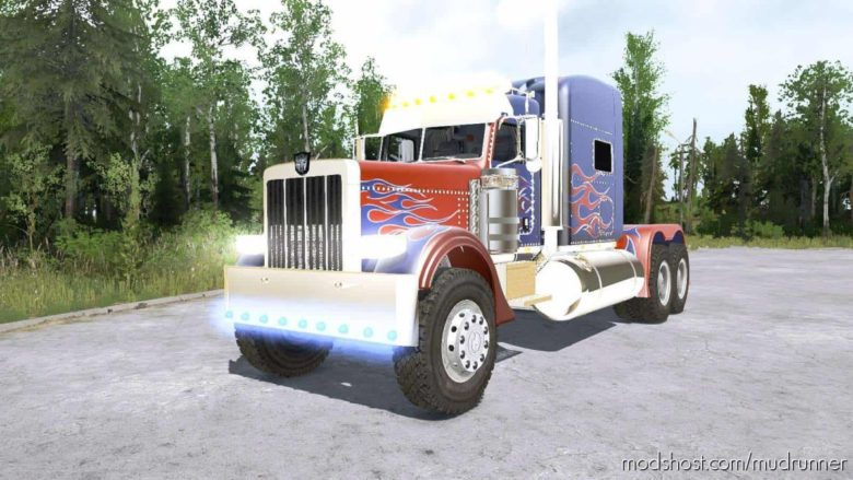 Peterbilt 389 Optimus Prime Truck for MudRunner