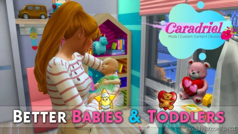 Better Babies & Toddlers for The Sims 4