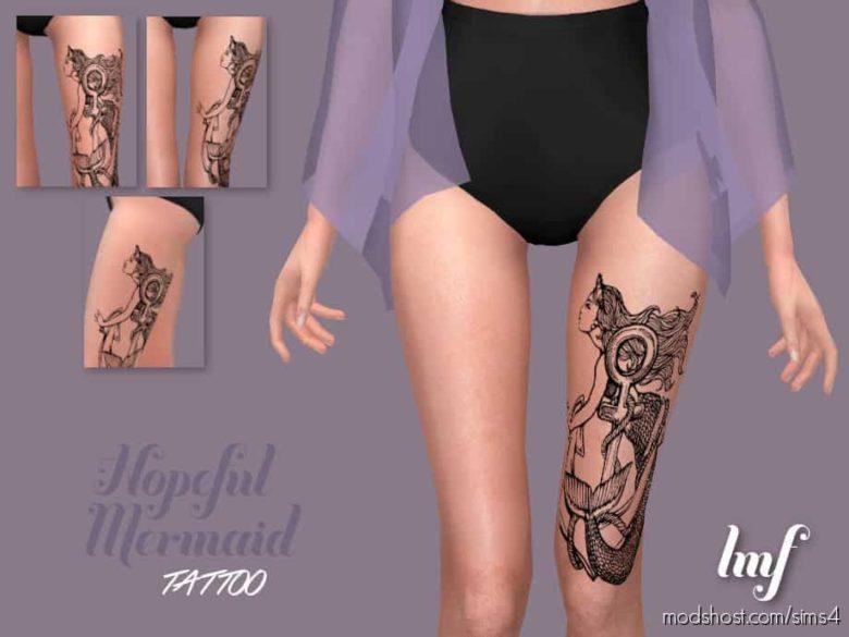 IMF Tattoo Hopeful Mermaid for The Sims 4