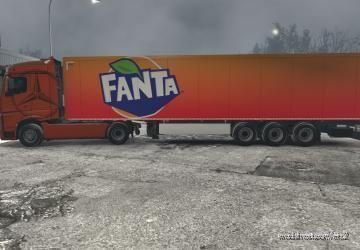 Fanta Skin For Your Trailer for Euro Truck Simulator 2