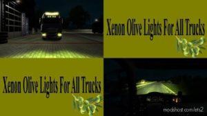 Xenon Olive Lights For ALL Trucks for Euro Truck Simulator 2