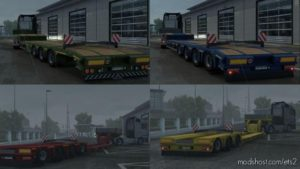 Lift-Able Axle For Lowbed And Lowloader V1.1 for Euro Truck Simulator 2