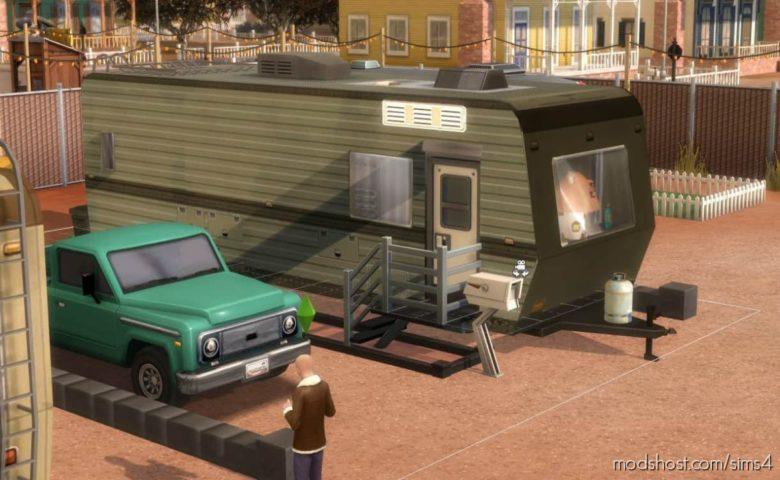 Usable Caravan / Trailer for The Sims 4