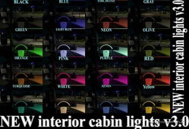 NEW Interior Cabin Lights V3.0 for Euro Truck Simulator 2