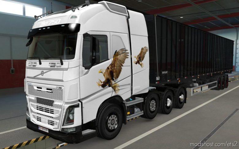 Skin Volvo FH16 2012 8X4 Aguia [1.39] for Euro Truck Simulator 2