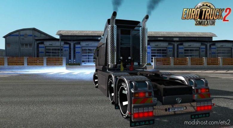 Kamaz 6460 Turbo Diesel V8 + Interior V1.7 [1.39.X] for Euro Truck Simulator 2