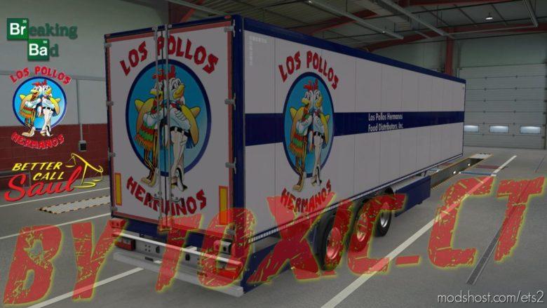 LOS Pollos Hermanos Skin Trailer V2.0.1 for Euro Truck Simulator 2
