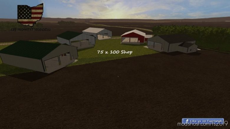 75 X 100 Shop for Farming Simulator 19