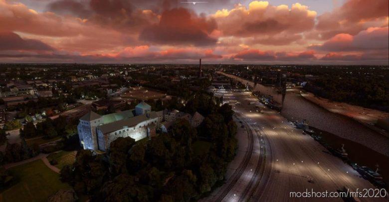 Turku Downtown Buildings for Microsoft Flight Simulator 2020