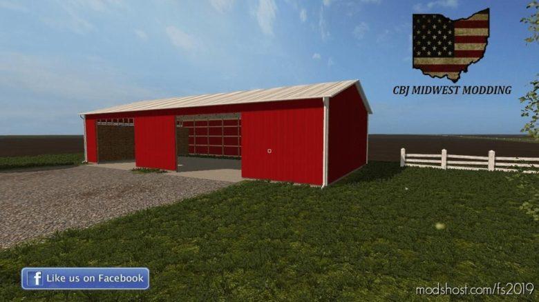 80X48 Machine Shed / Corn Crib for Farming Simulator 19