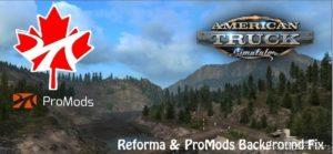 Reforma & Promods Background FIX [1.39] for American Truck Simulator