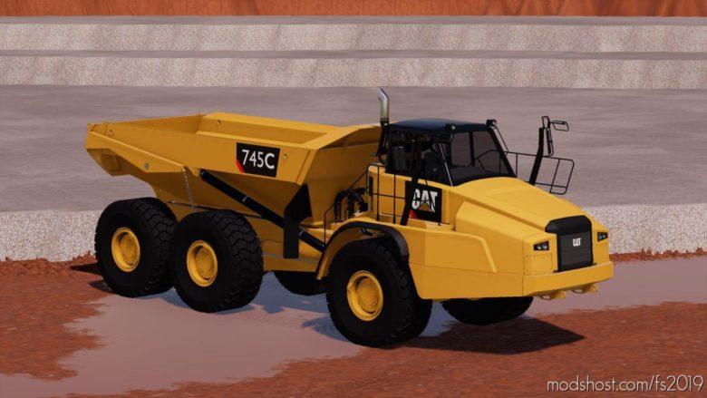 4MR CAT 745C V4.9 for Farming Simulator 19