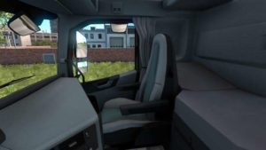 Grey Interior Volvo for ETS2 for Euro Truck Simulator 2