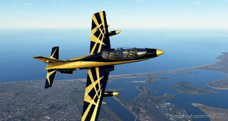 Mb339Pan UAE AL Fursan Paint for Microsoft Flight Simulator 2020