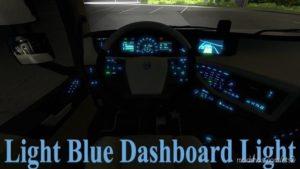 Light Blue Dashboard Lights 3.0 for Euro Truck Simulator 2