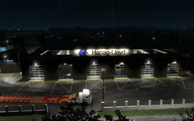 Garage Hapag Lloyd White [1.39] for Euro Truck Simulator 2