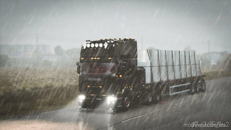 Realistic Rain [1.39] for Euro Truck Simulator 2