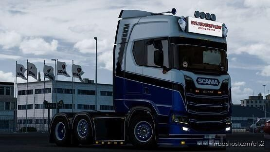 WF Paintjobs BD Logistics Skin For Scania NG for Euro Truck Simulator 2