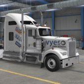 LA TV Stations Truck Skin For W900 for American Truck Simulator