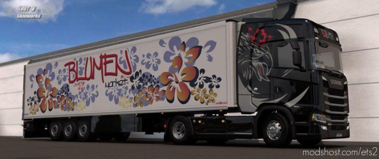 Blumen Market Scania S Skin Pack for Euro Truck Simulator 2