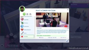 Youtuber Career for The Sims 4