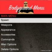 Bodyguard Menu V1.7 for Grand Theft Auto V