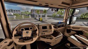 Scania Next GEN Beige-Brown Interior [1.39] for Euro Truck Simulator 2