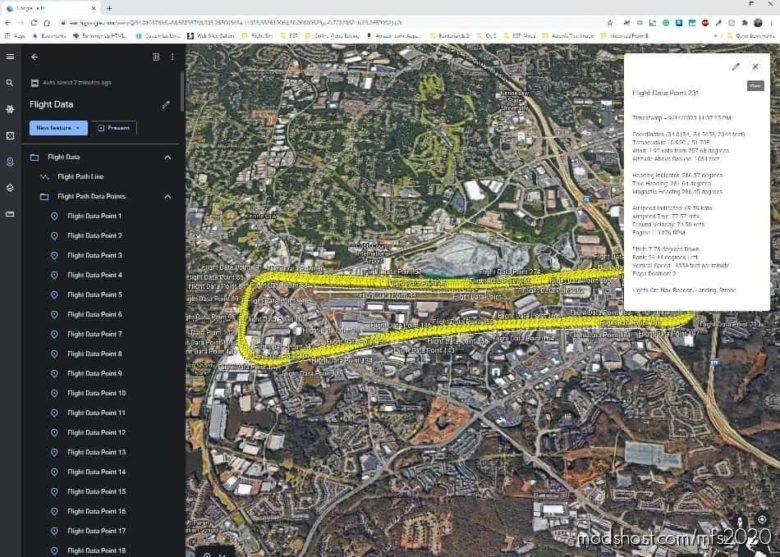 Pilot Path Recorder V1.3.0 for Microsoft Flight Simulator 2020