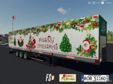 Trailer Merry Christmas By BOB51160 for Farming Simulator 19