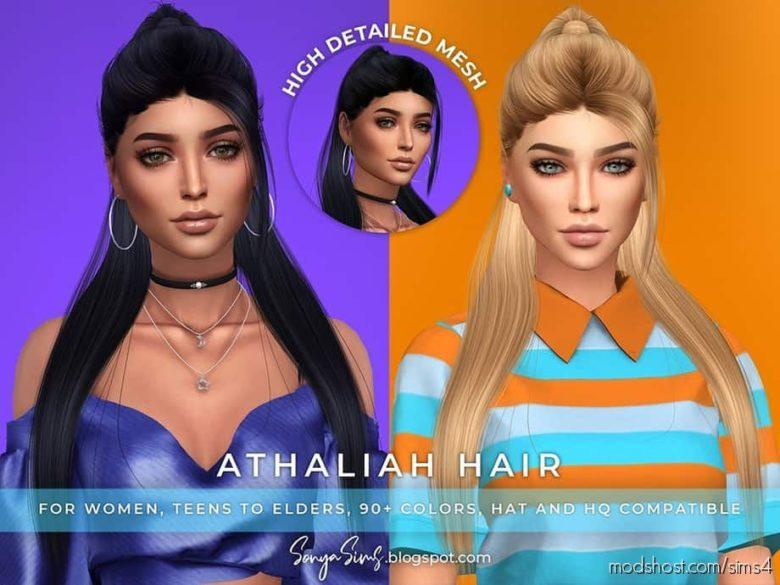 Sonyasims Athaliah Hair for The Sims 4