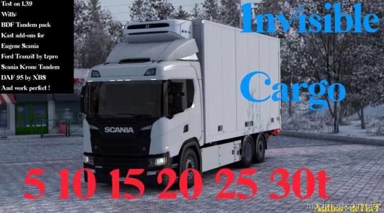 Invisible Cargo Mod For Riggid Trucks [1.39] for Euro Truck Simulator 2