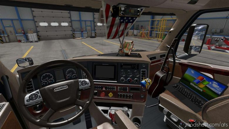 Beige Interior For Freightliner Cascadia 2019 V0.9 for American Truck Simulator
