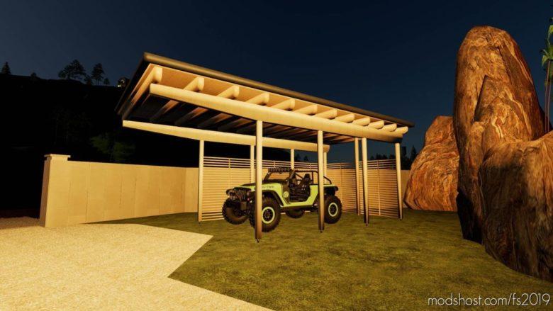 Wooden Carport for Farming Simulator 19