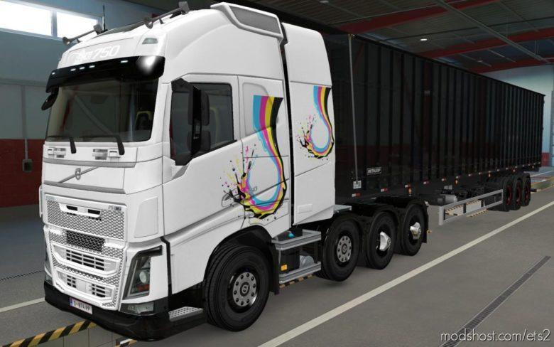 Skin Volvo FH16 2012 8X4 Aquarela [1.39] for Euro Truck Simulator 2