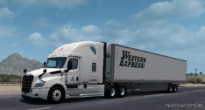 Western Express Skin For 48-53 SCS BOX for American Truck Simulator