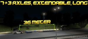 Long LOW BED (7+3 Axles, Extendable, Long) MP [1.39.X] for Euro Truck Simulator 2