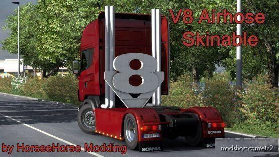 V8 Airhose Skinable [1.39] for Euro Truck Simulator 2